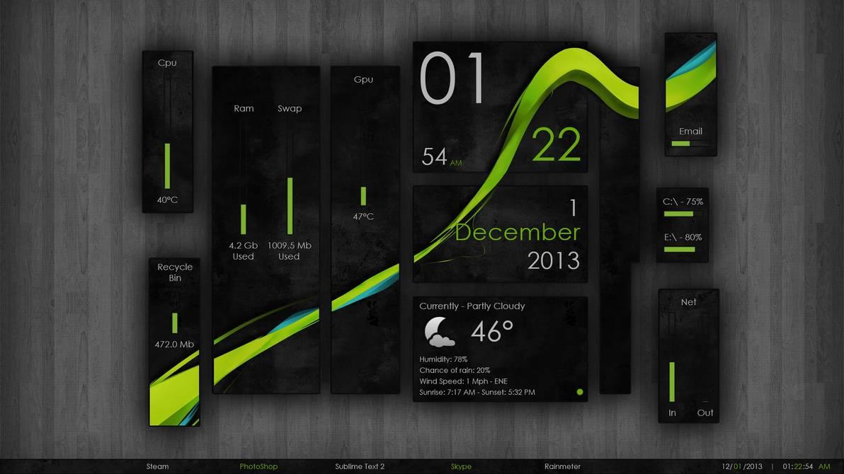 30+ Best Robust RainMeter Skins for Windows 10,8.1,7