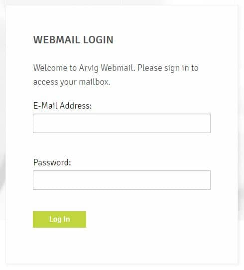Arvig Webmail Login Process