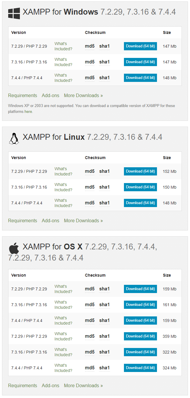 Download XAMPP for Windows, Ubuntu, and Mac