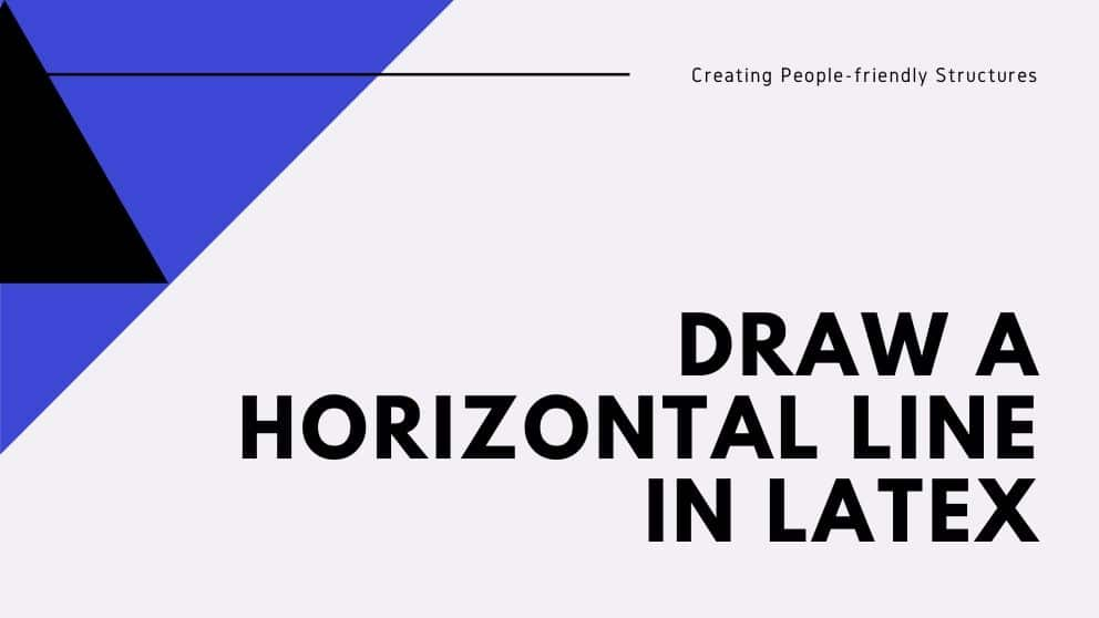 Draw A Horizontal Line in Latex