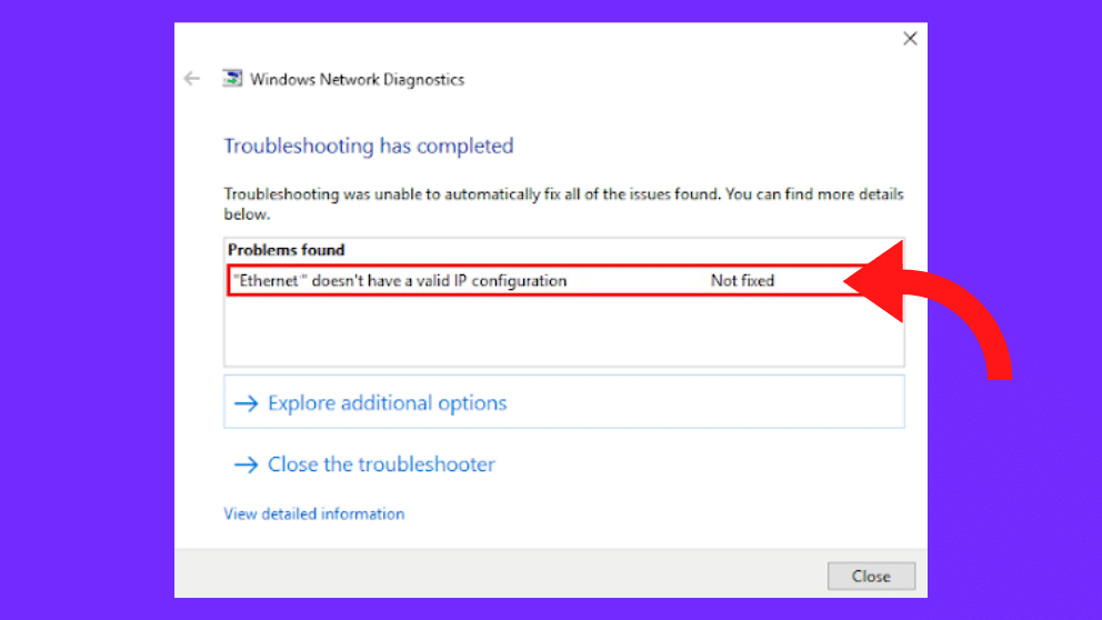 How to Fix Ethernet Have a Valid IP Configuration Windows 10