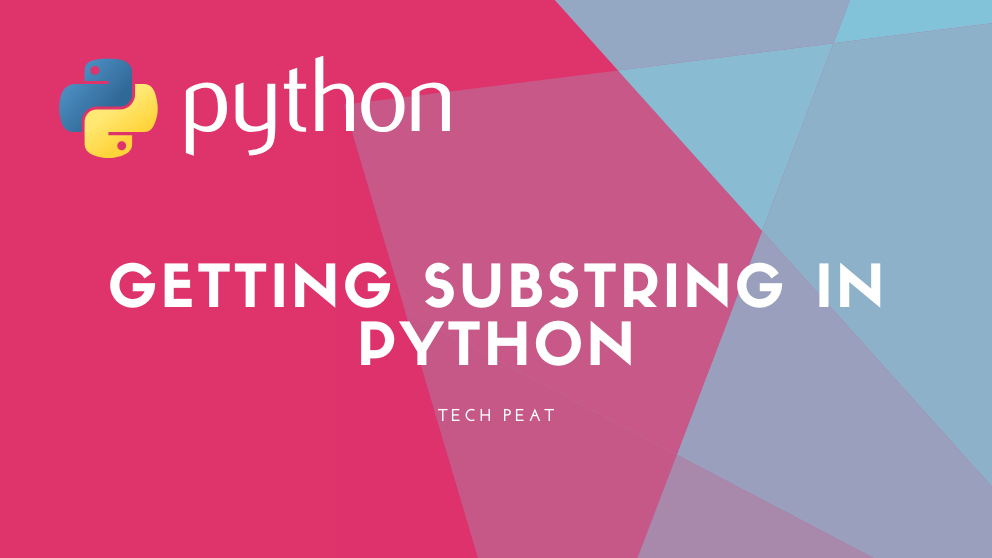 How to SubString a String in Python