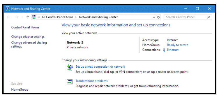 Where Is Network And Sharing Center In Windows 10